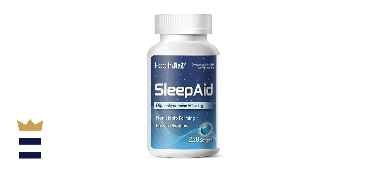 HealthA2Z Sleep Aid, Diphenhydramine HCl 50mg, 250 Softgels