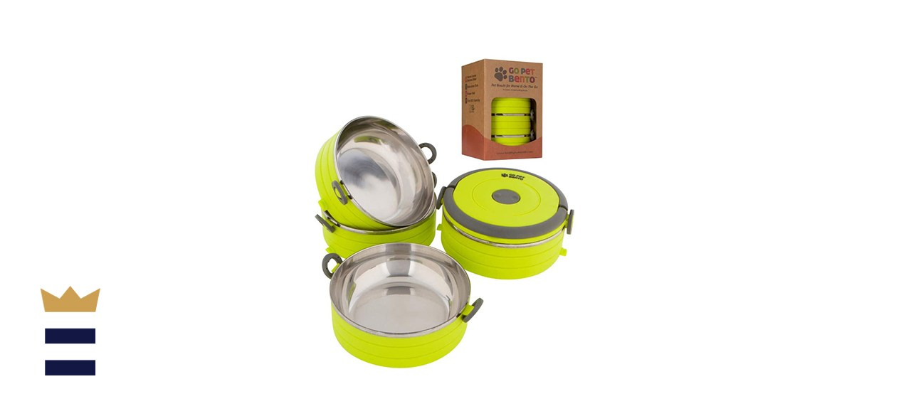 Healthy Human Portable Dog & Pet Travel Bowls with Lid