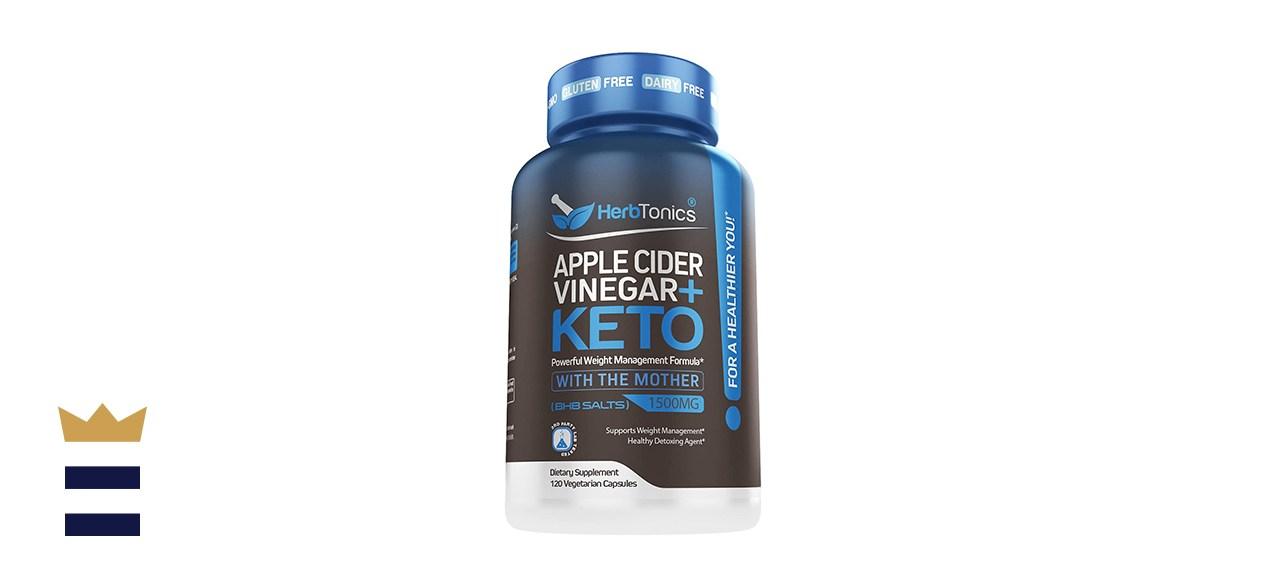 Herbtonics Apple Cider Vinegar Capsules + Keto BHB