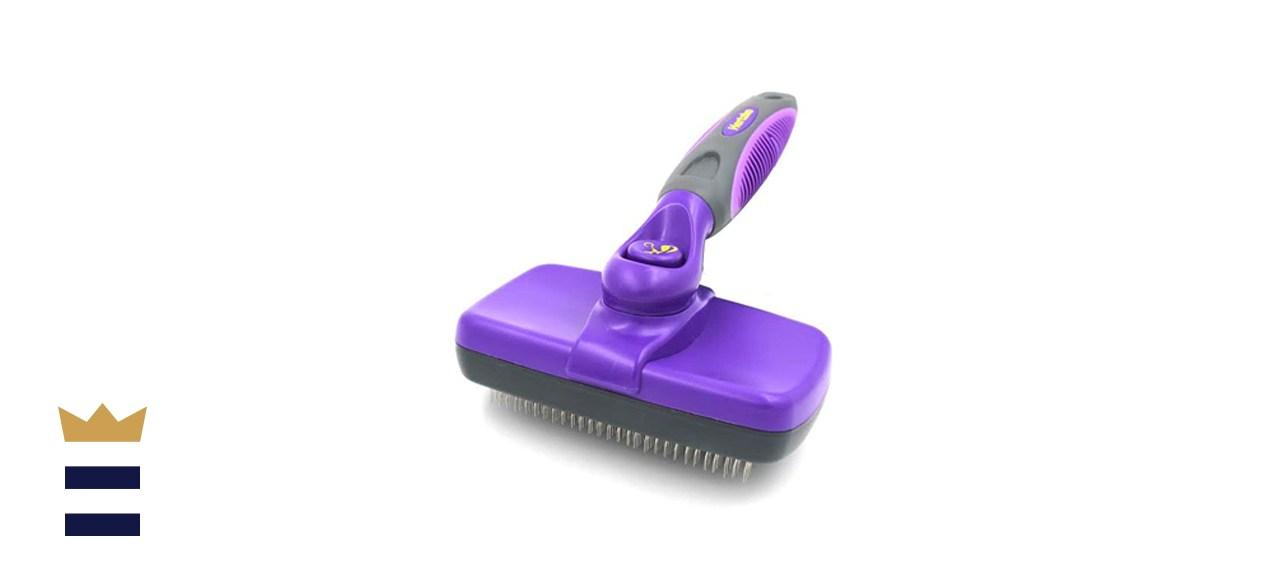 HERTZKO Self-Cleaning Slicker Brush for Dogs and Cats