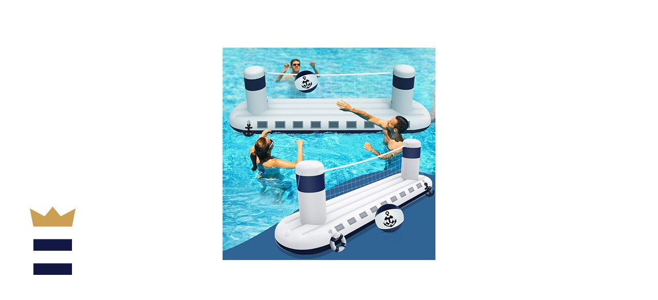 heytech Inflatable Pool Game Set Volleyball Game with 1 Ball, Inflatable Float Steamship