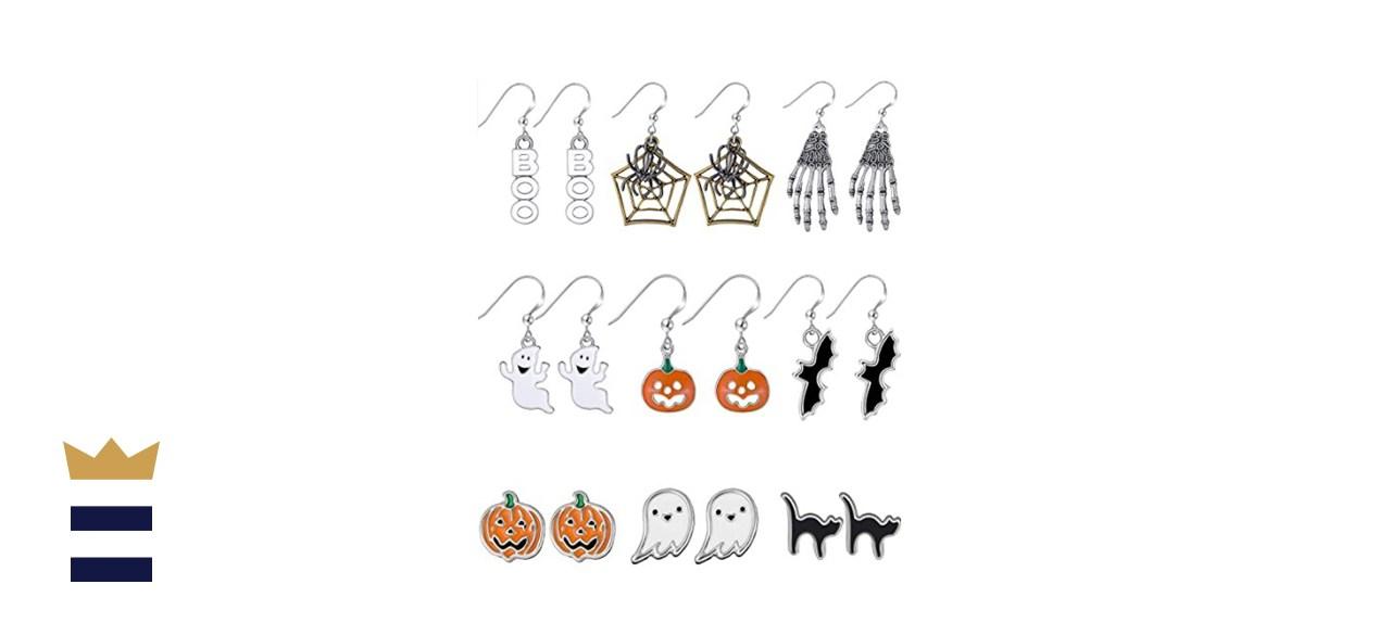 Hicarer Halloween Stud and Dangle Earrings