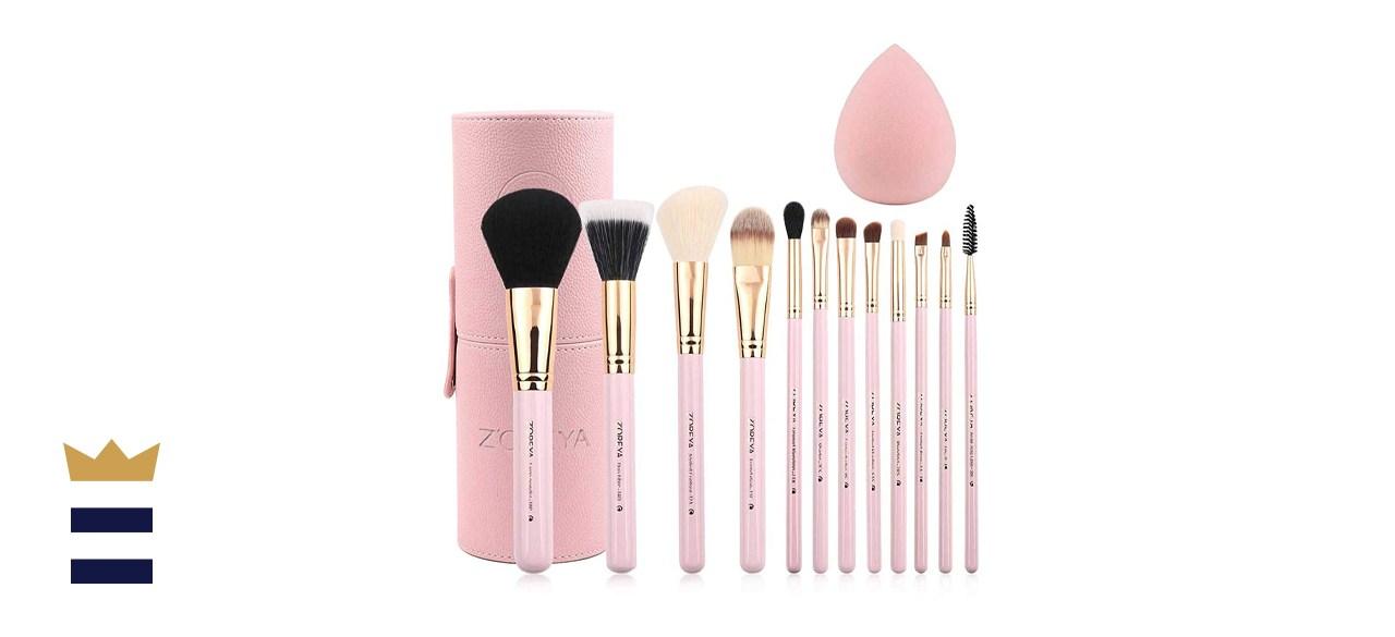 Zoreya Makeup Brush Set 12pcs Pink Synthetic Makeup Brushes