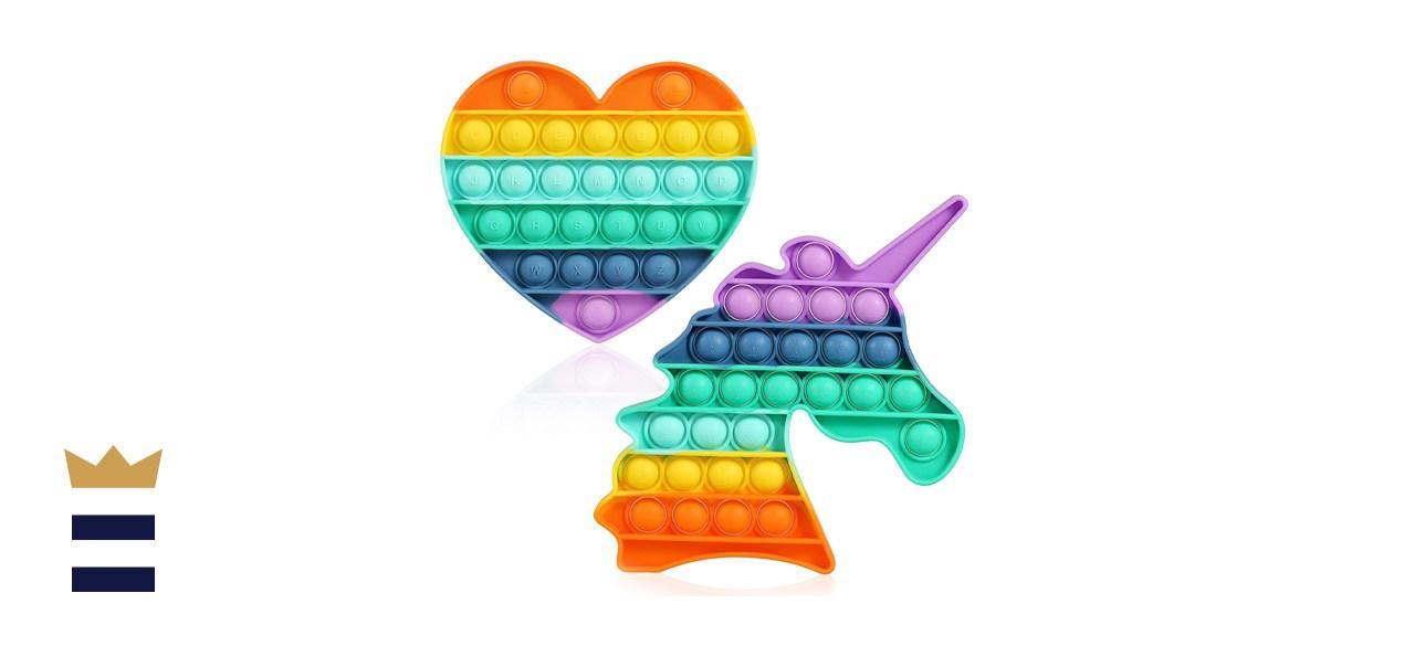 HiUnicorn Rainbow Pop It Fidget Toys