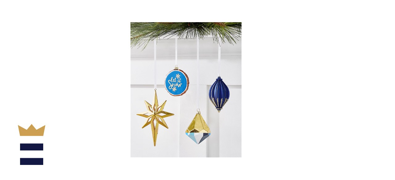 Holiday Lane Midnight Blue Christmas Ornament Collection