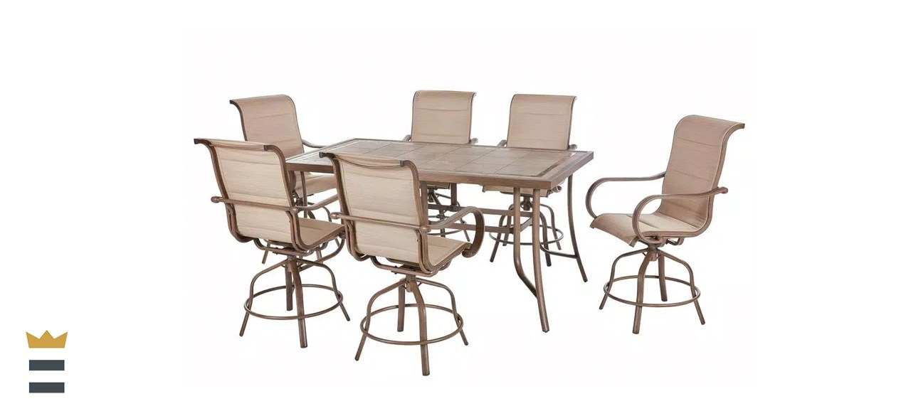 Home Decorators Sun Valley Aluminum Patio Bar Height Dining Set