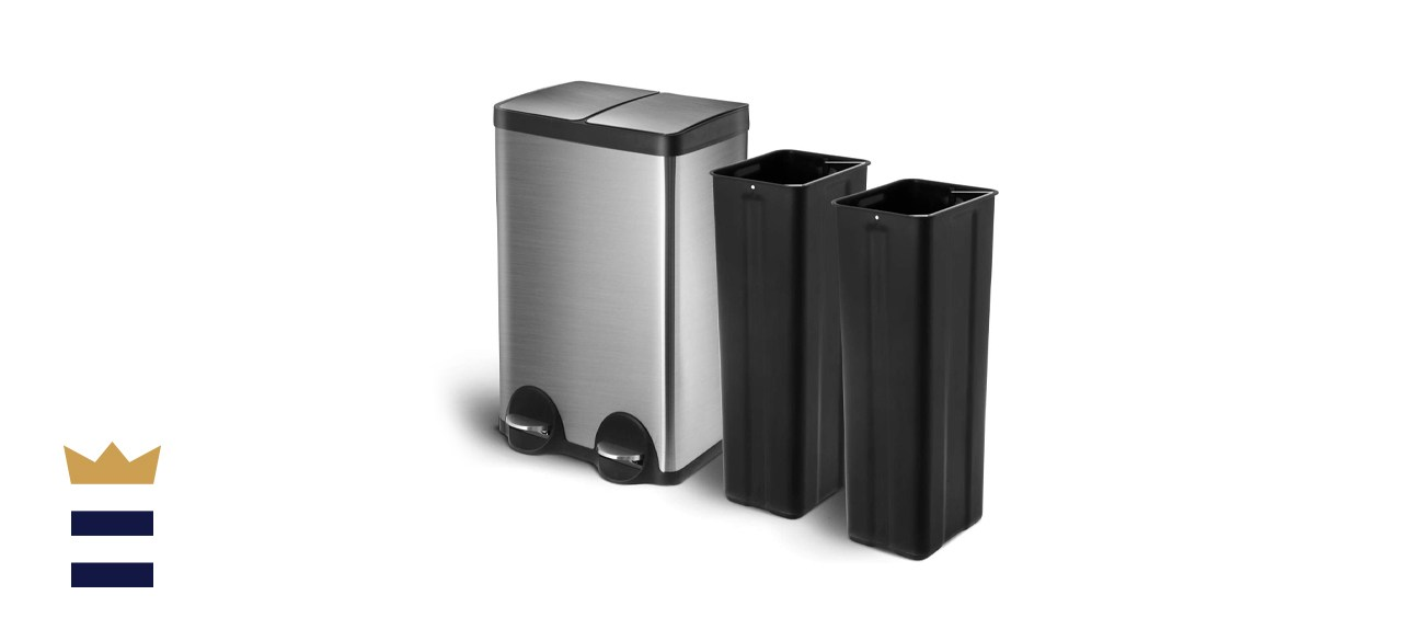 Home Zone Living Dual Kitchen Trash Can