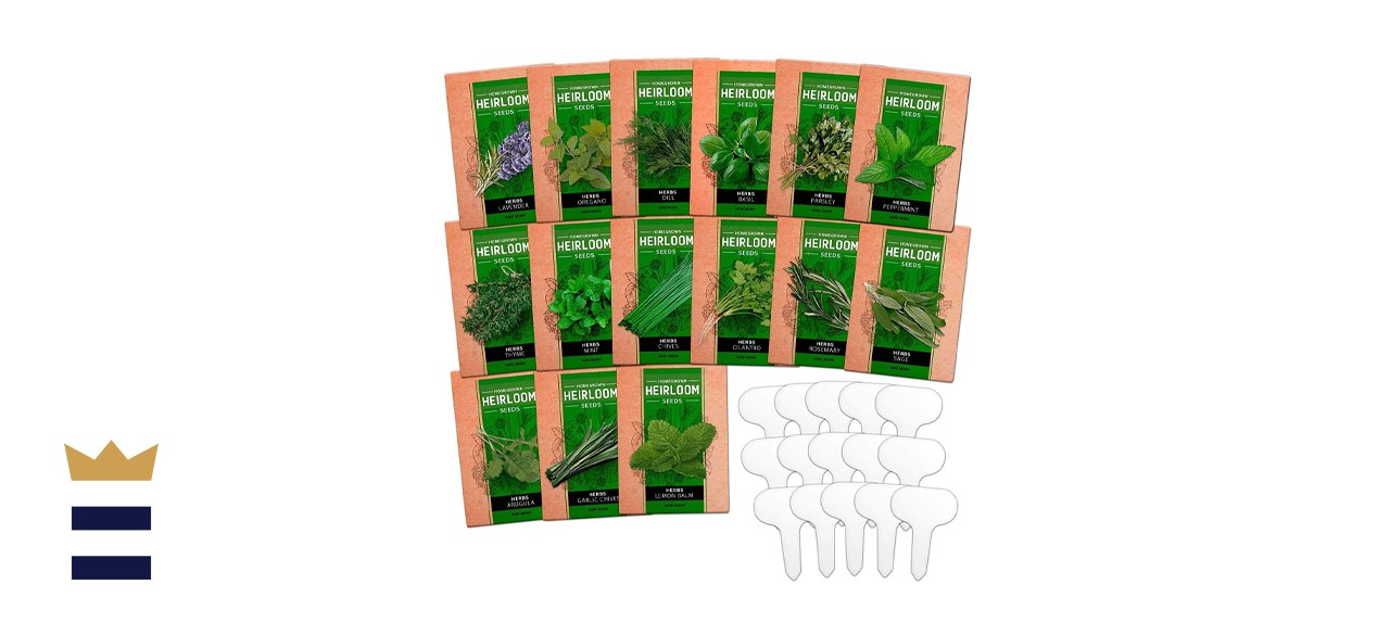 HOMEGROWN 15 Non-GMO Culinary Herb Seed Vault