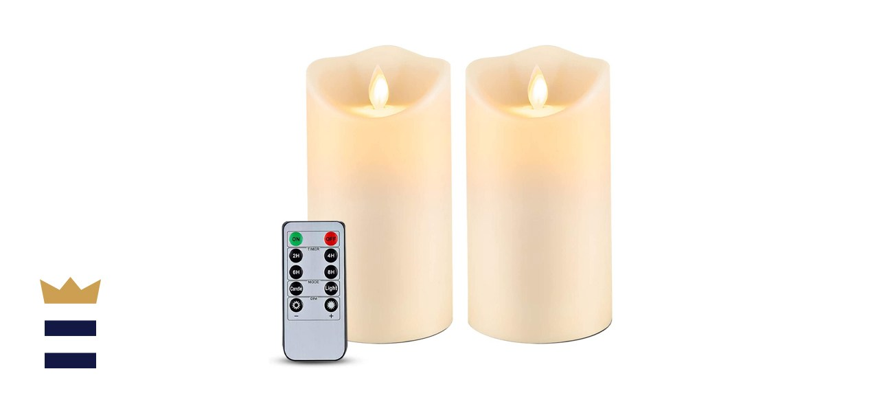 Homemory 6 inch by 3.5 inch Outdoor Waterproof Flameless Candles