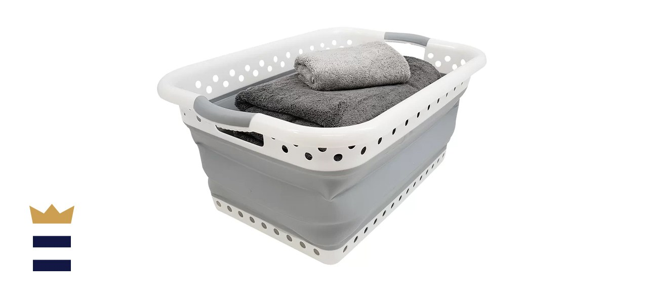 Homz Collapsible Plastic Laundry Basket
