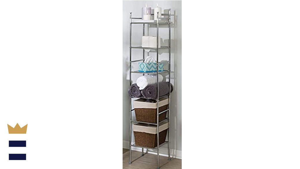 3-Tier Folding Collapsible Stainless Steel Organizer Shelf Rack Holder