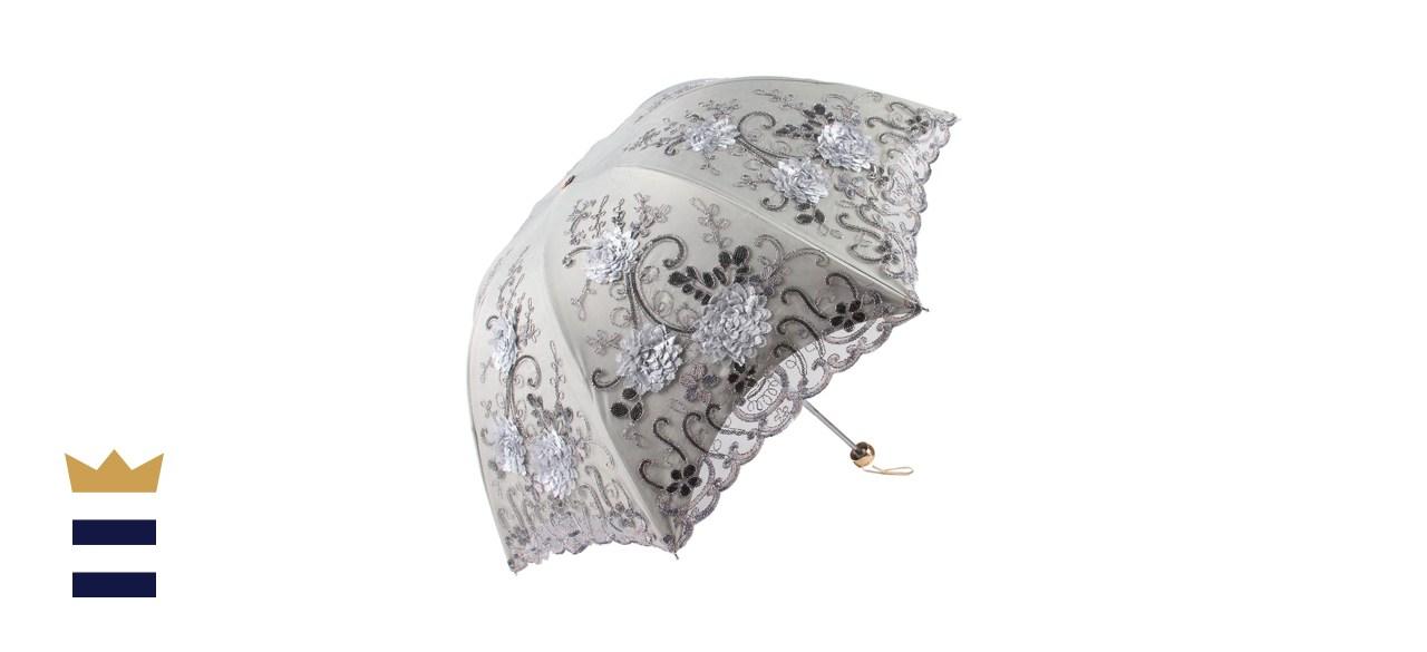 Honeystore Sun Protection Decorative Vintage Lace Parasol