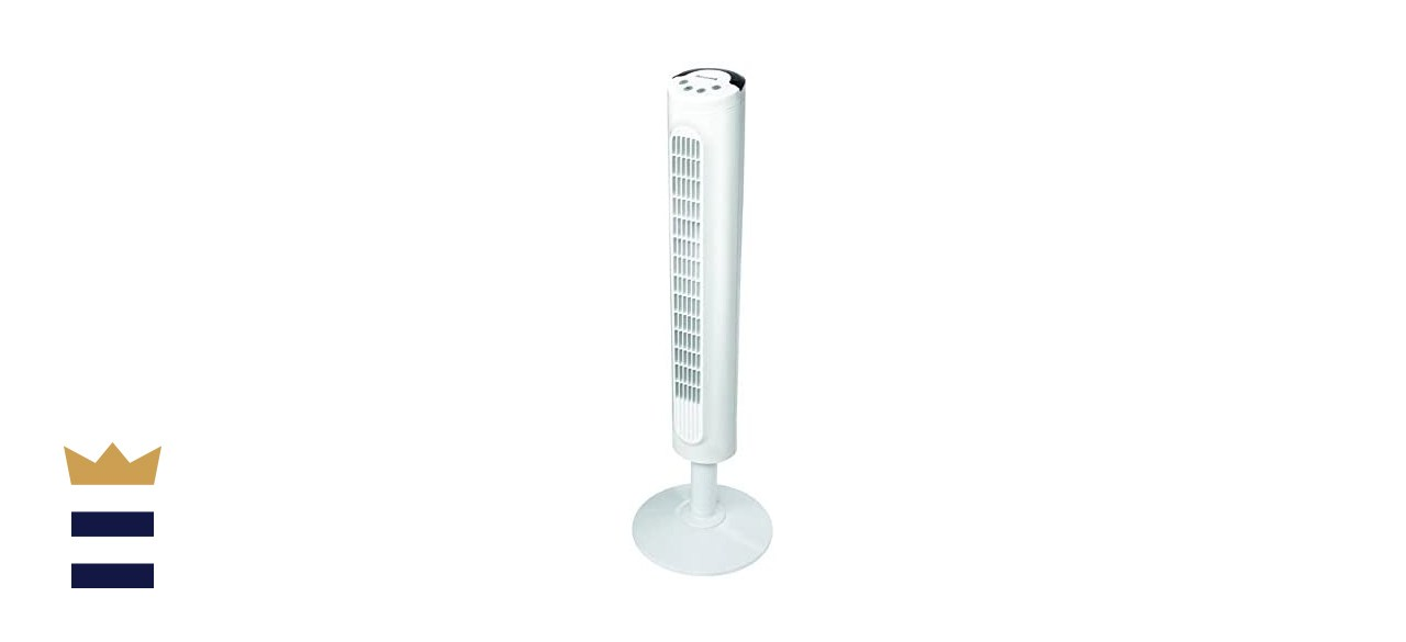 Honeywell White Comfort Control Tower Fan, Slim Design, Powerful Cooling
