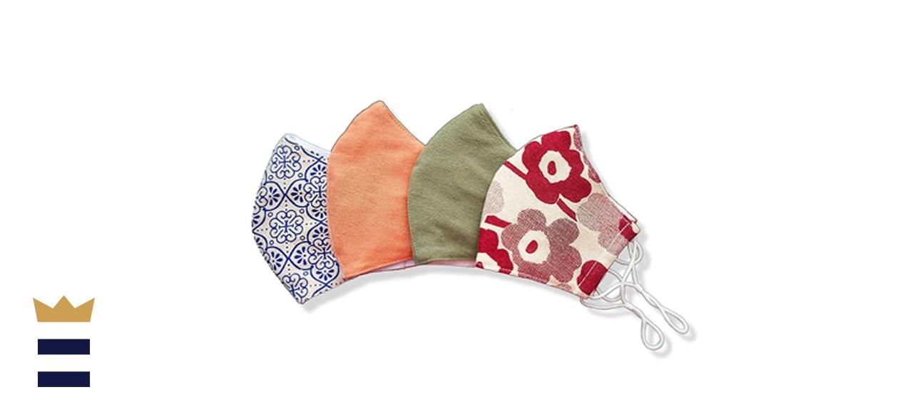 Hope Love Shine Cotton Face Masks, 4-Pack