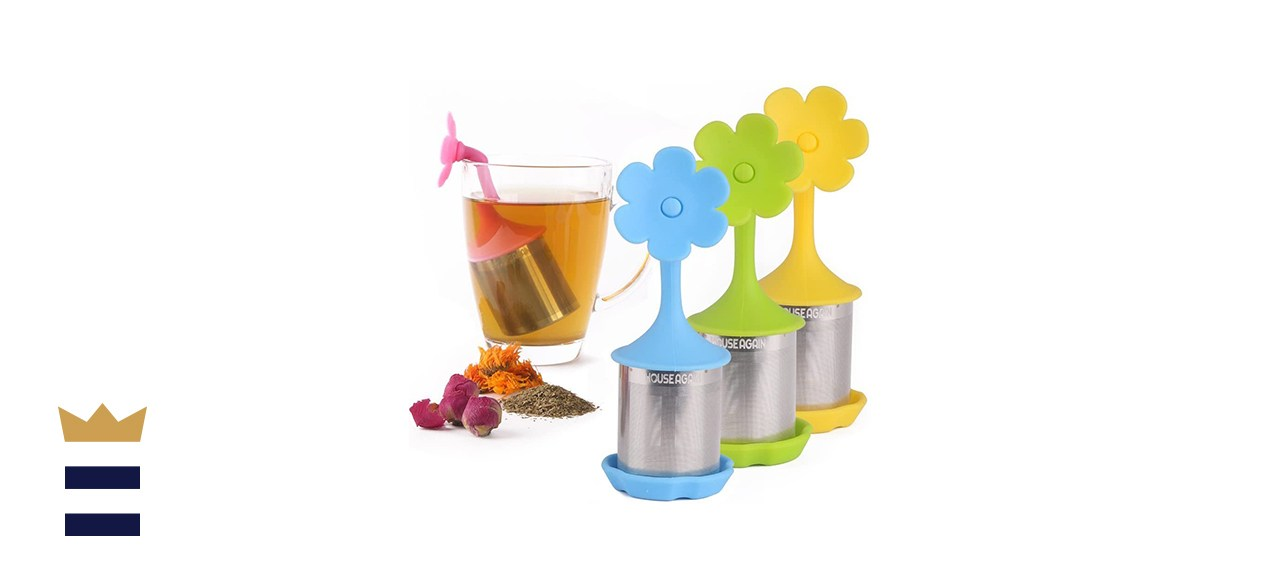 House Again Fine Mesh Tea Infuser with Drip Tray