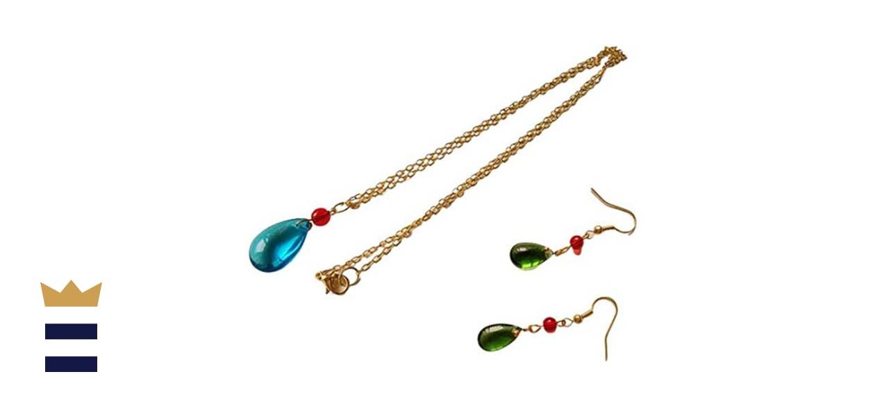 Howl's Moving Castle Cosplay Howl Costume Earrings and Necklace
