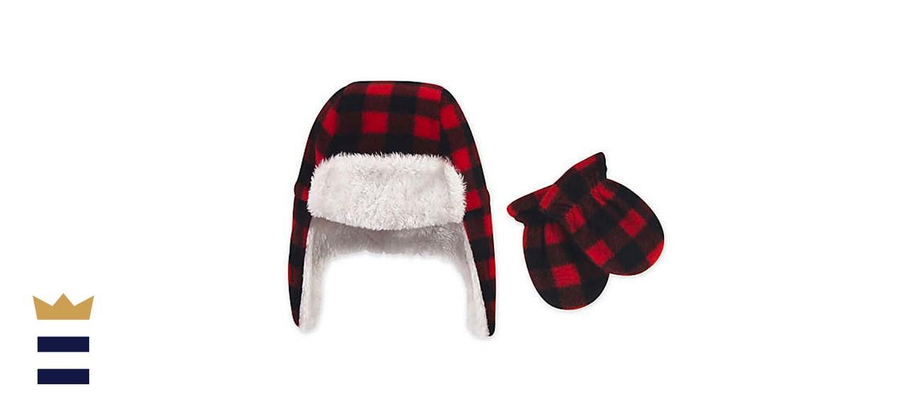 Hudson Baby 2-piece fleece trapper hat and mitten set