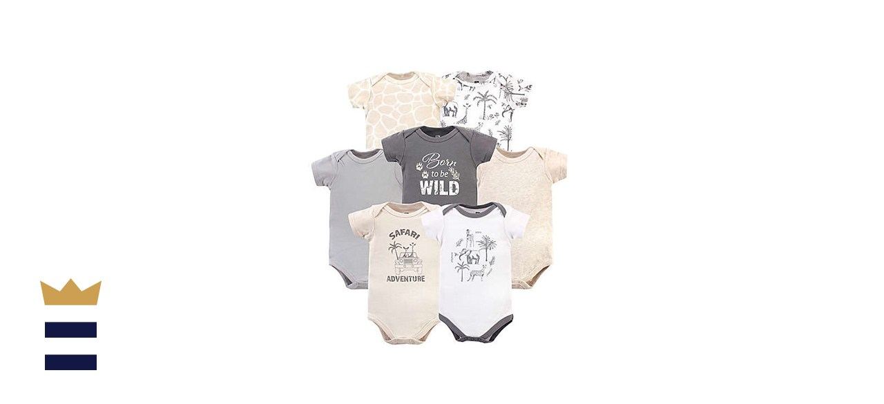 Hudson Baby Size 0-3M 3-Pack Royal Safari Bodysuits