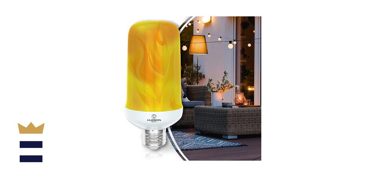 Hudson Bulb Co. LED Flickering Flame Light Bulb