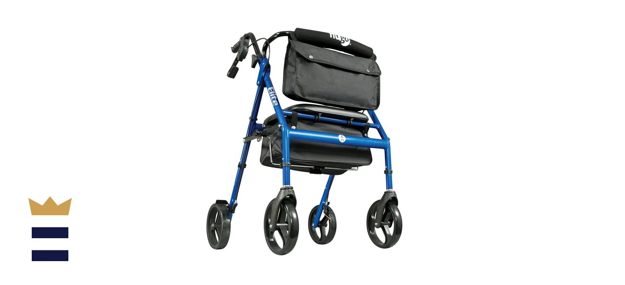 Hugo Elite Foldable Rollator Walker with Seat