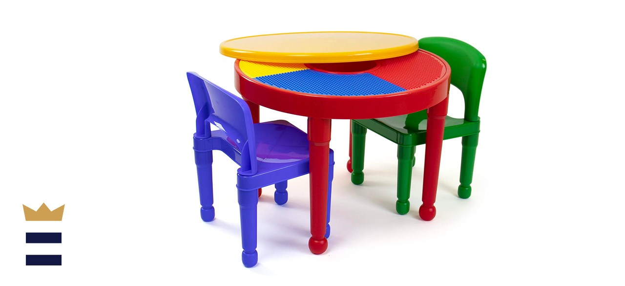 Humble Crew 2-in-1 Building Blocks Table and Chairs