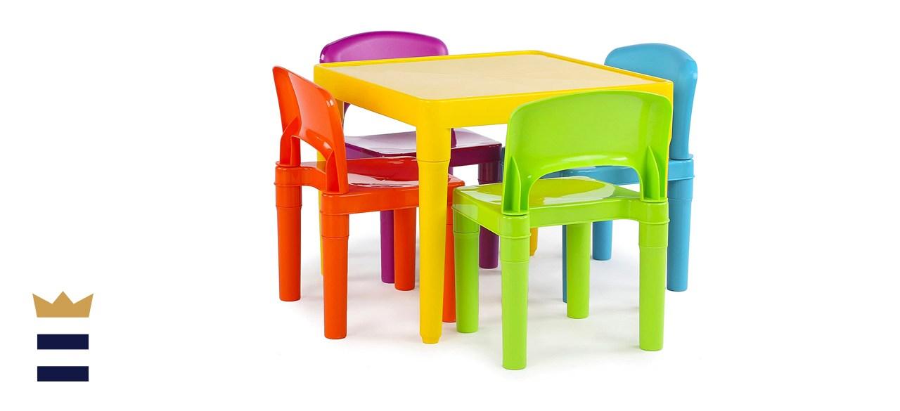 Humble Crew Lightweight Multi-Colored Plastic Table Set