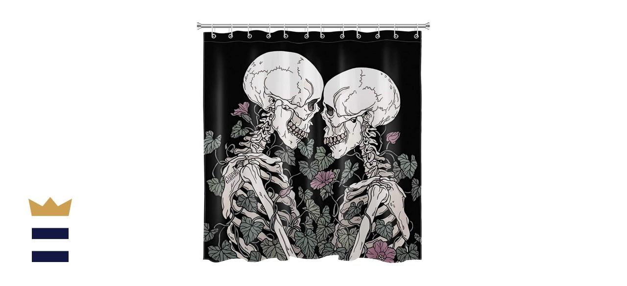 HVEST Skull Shower Curtain Set