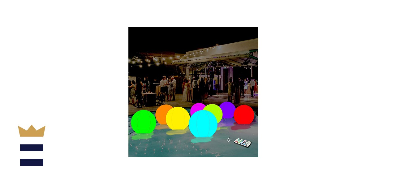 Icnice LED Beach Balls Pool Toys,2pcs Inflatable Light up Beach Ball 16'' Floating Pool Light with Remote