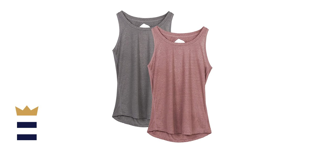 Icyzone Racerback Tops, Two-Pack