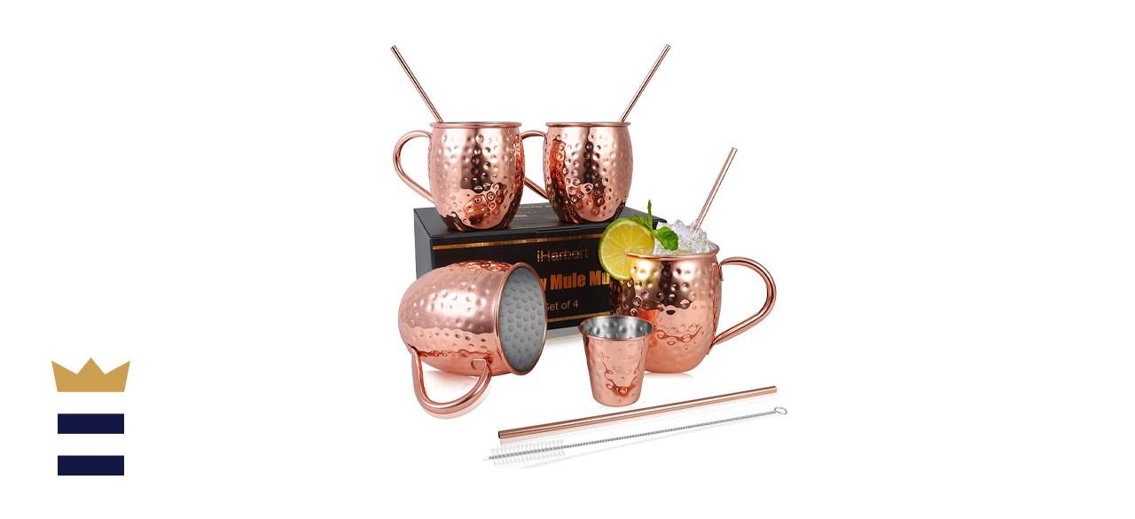 iHarbort Rose Gold Moscow Mule Mug Set
