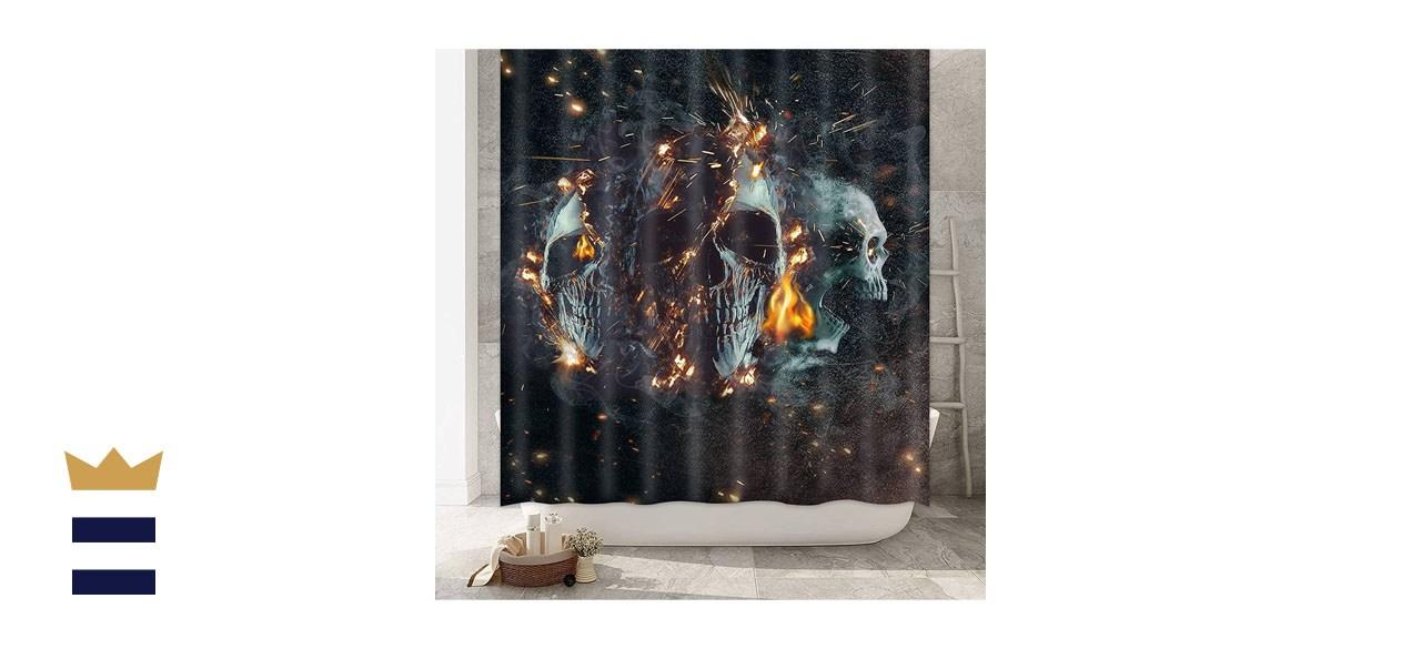 Ikfashoni Halloween Shower Curtain