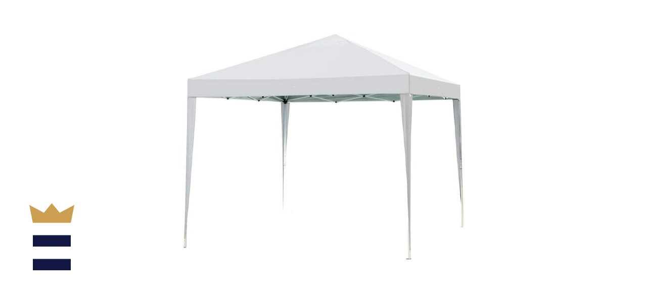Impact 10' x 10' White Canopy Tent with Dressed Legs