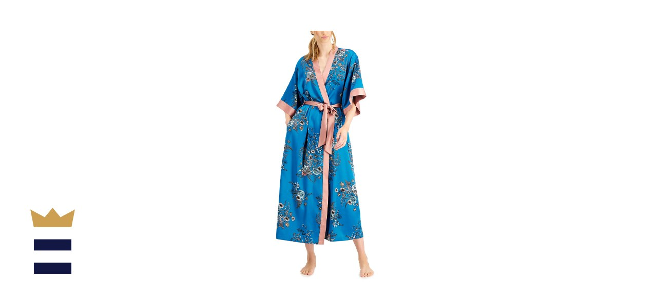 INC International Concepts INC Contrast-Trim Long Wrap Robe