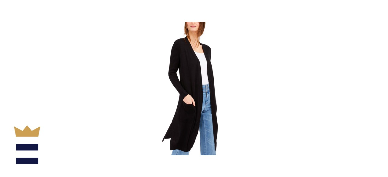 INC International Concepts Ribbed Duster Cardigan