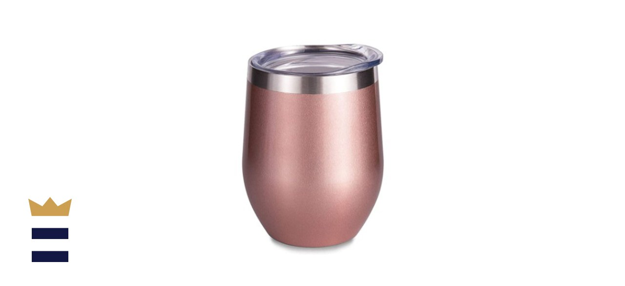 Insulated Rose Gold Stainless Steel Wine Tumbler