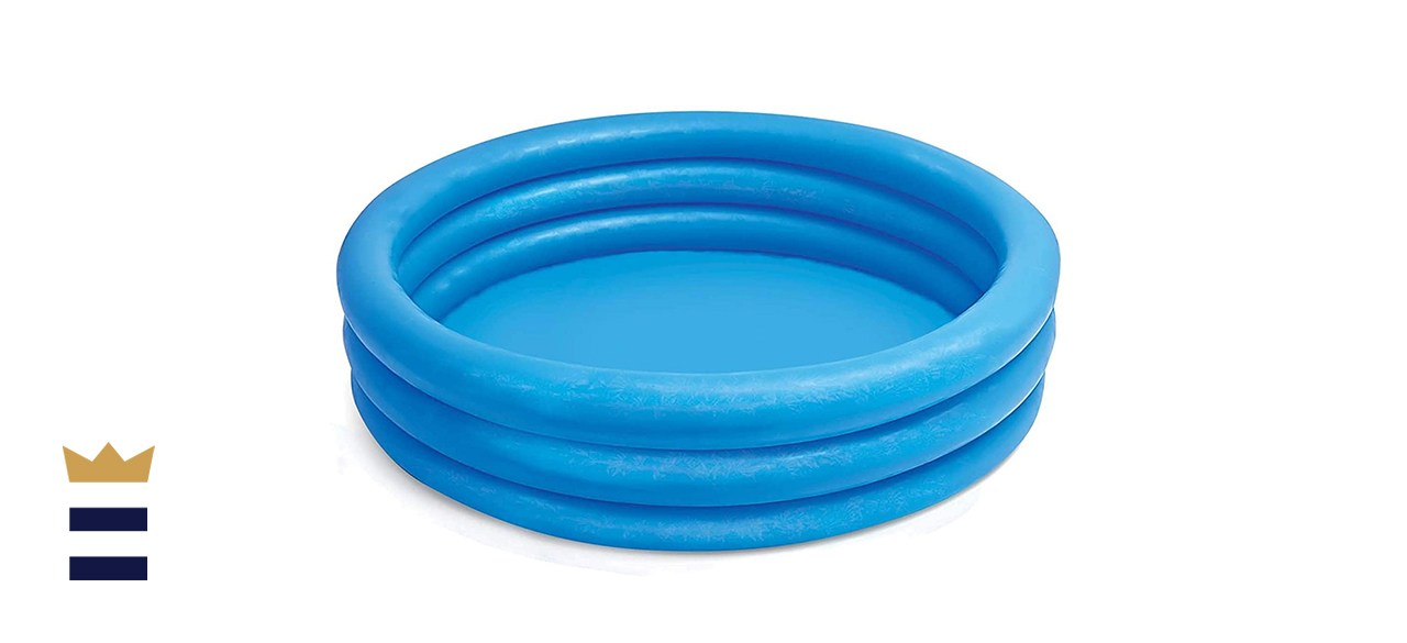 Intex Crystal Blue Kids Inflatable 66in x 15in Swimming Pool