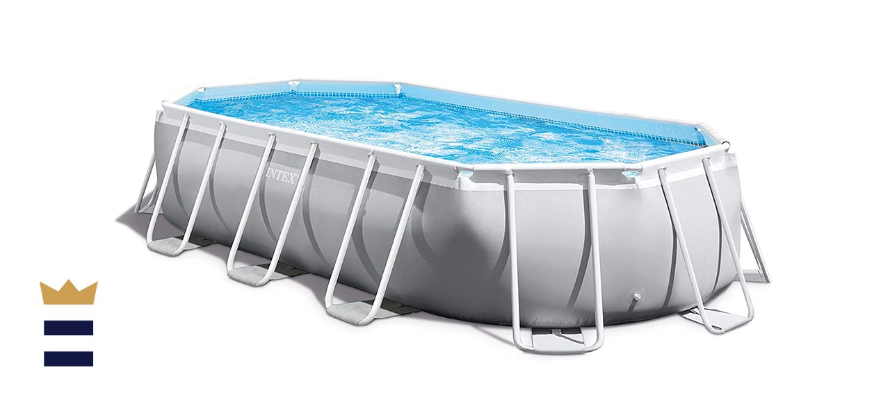 Intex Prism 16.5ft X 9ft X 48in Above-Ground Oval Swimming Set