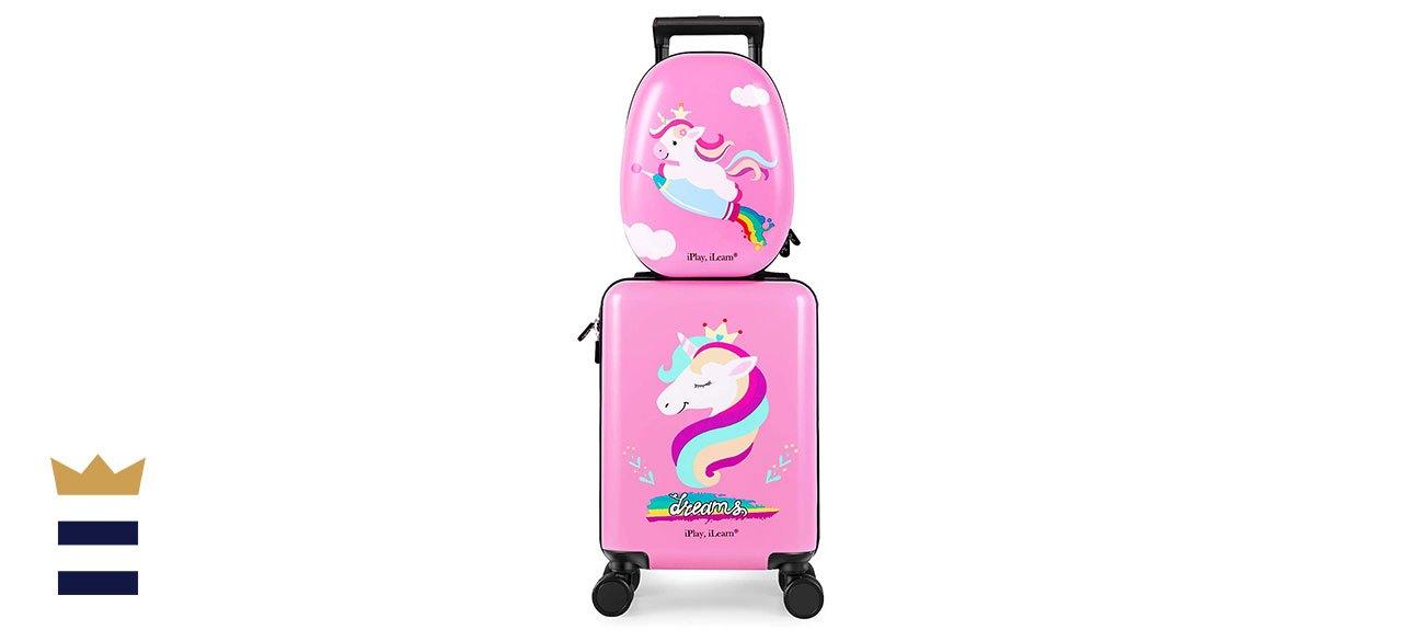 iPlay, iLearn Kids Carry On Luggage Set