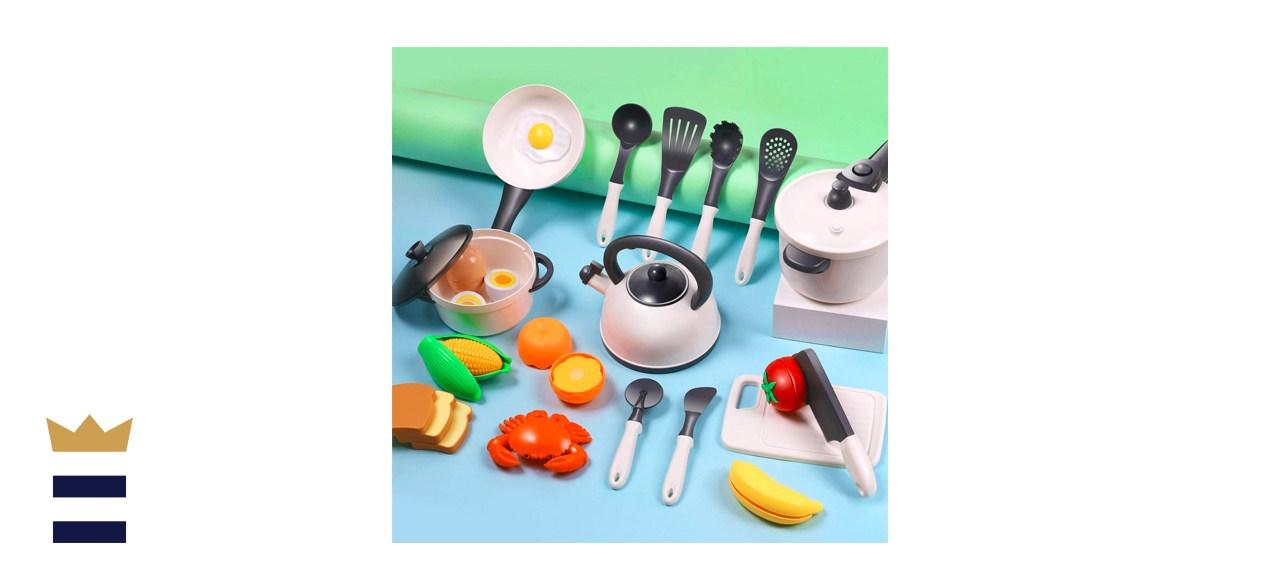 iPlay, iLearn Kids Kitchen Pretend Play Cooking Toys
