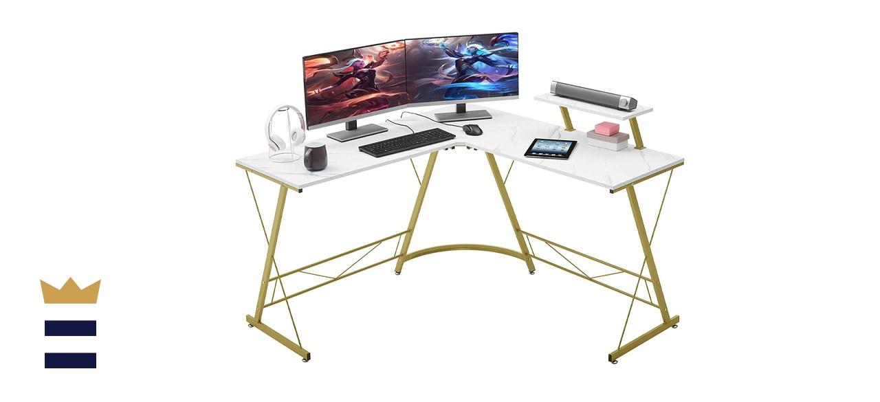 Ironstone L-Shaped Computer Corner Desk