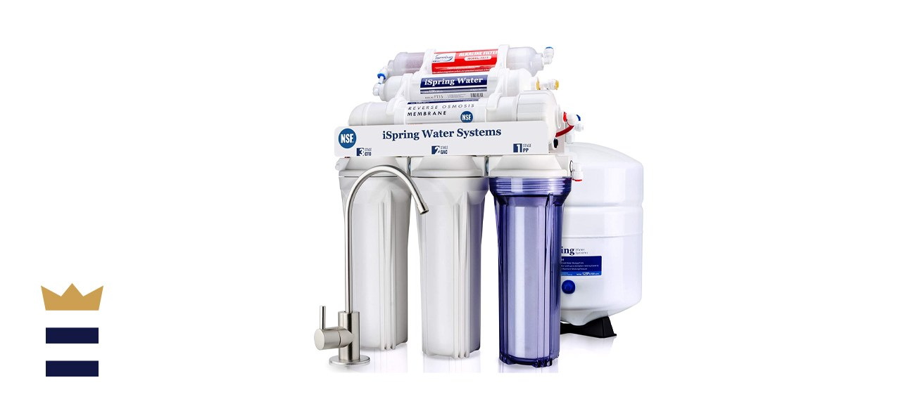 iSpring 6-Stage Under Sink Reverse Osmosis Drinking Water Filter System