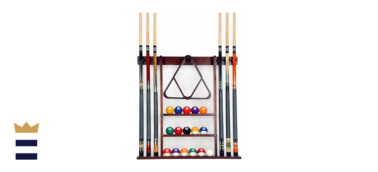 Iszy Billiards 6 Cue and Ball Wall Rack