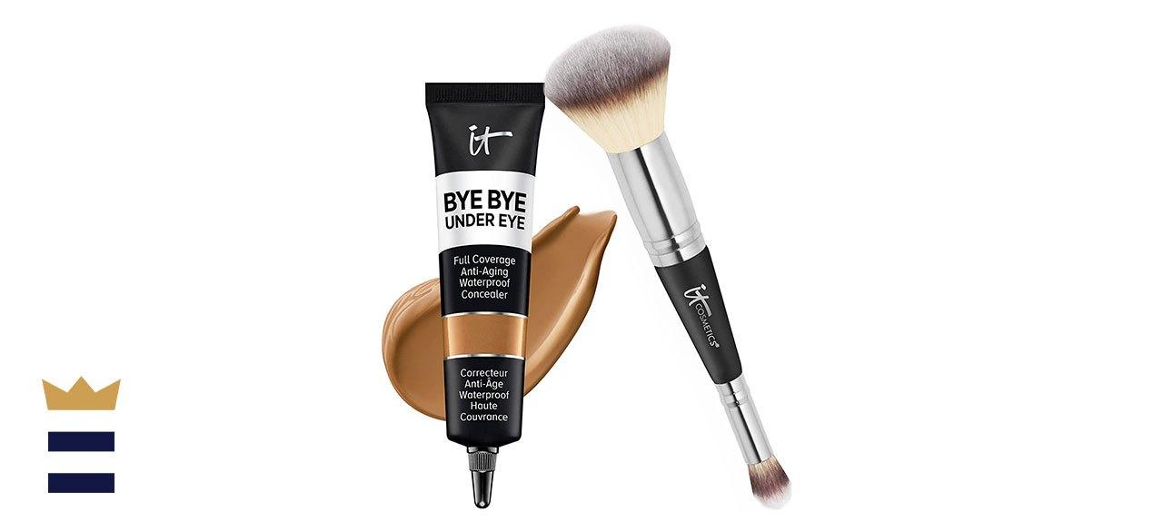 IT Cosmetics Makeup Set – Bye Bye Under Eye Concealer + Heavenly Luxe Complexion Brush