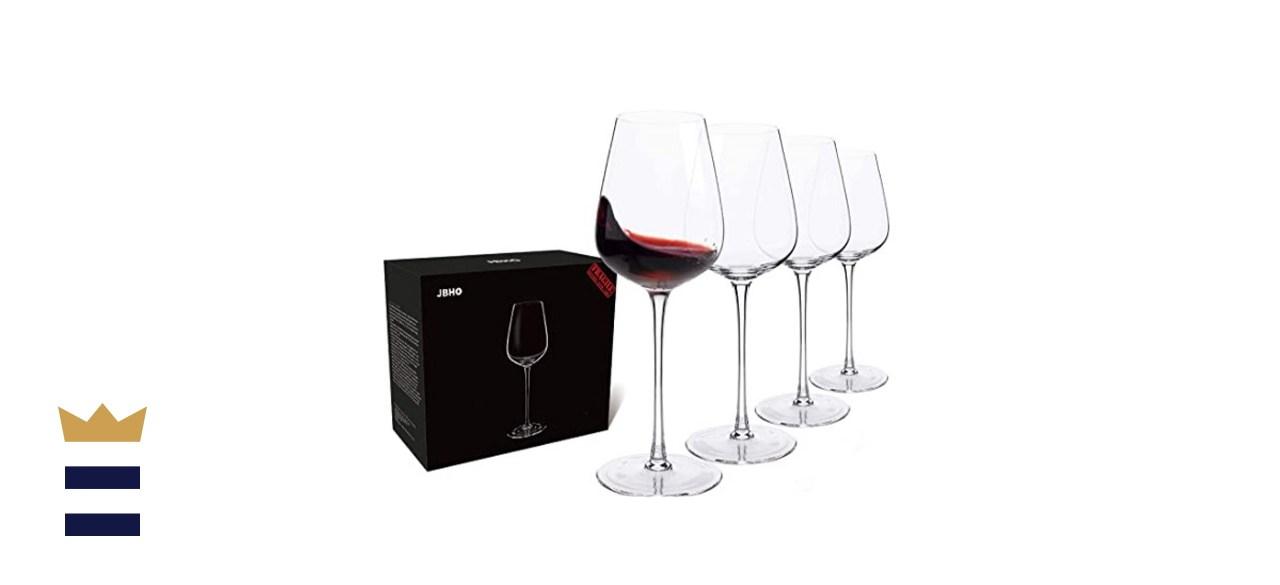 Italian Style Crystal Wine Glasses