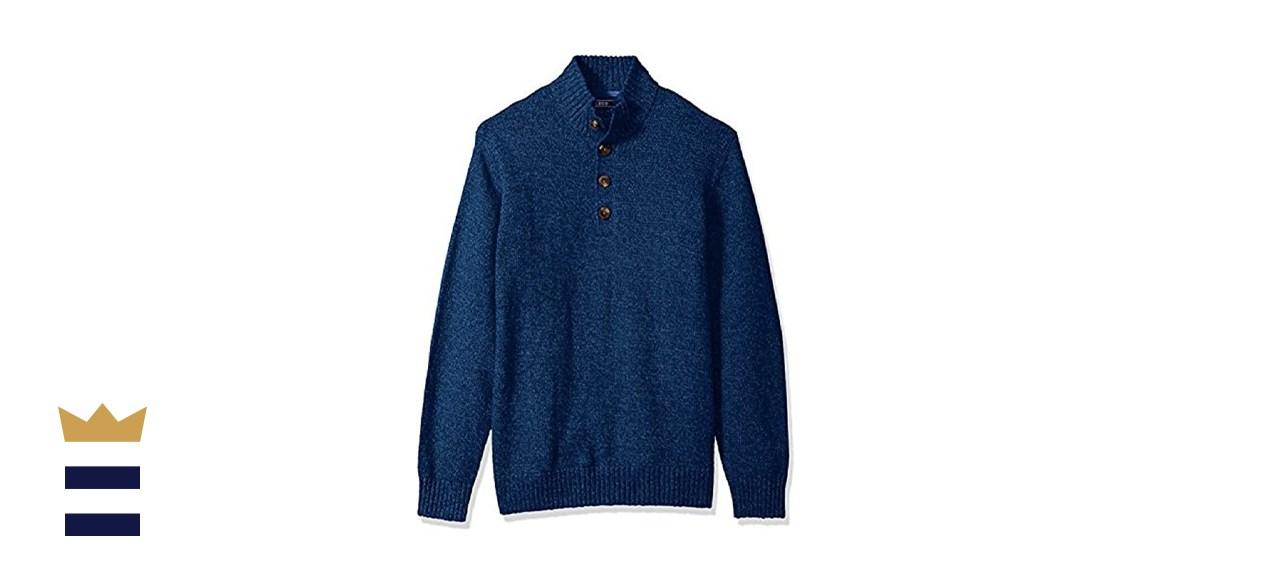 IZOD Men's Harbor River Button Up Sweater