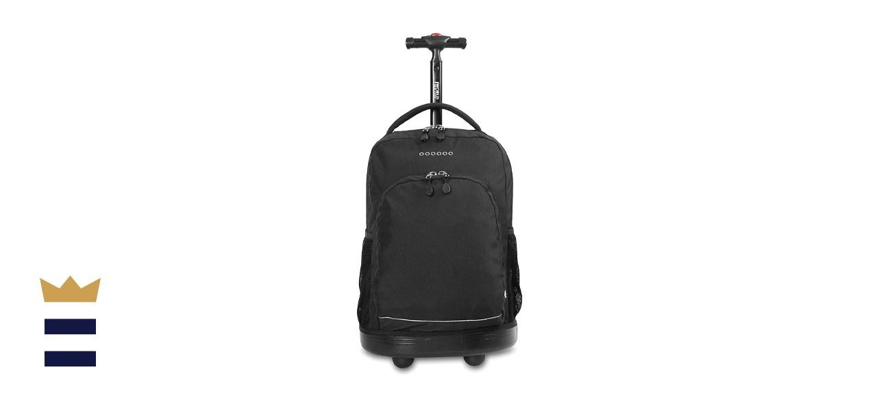 J World Black Sunny 17-inch Rolling Backpack