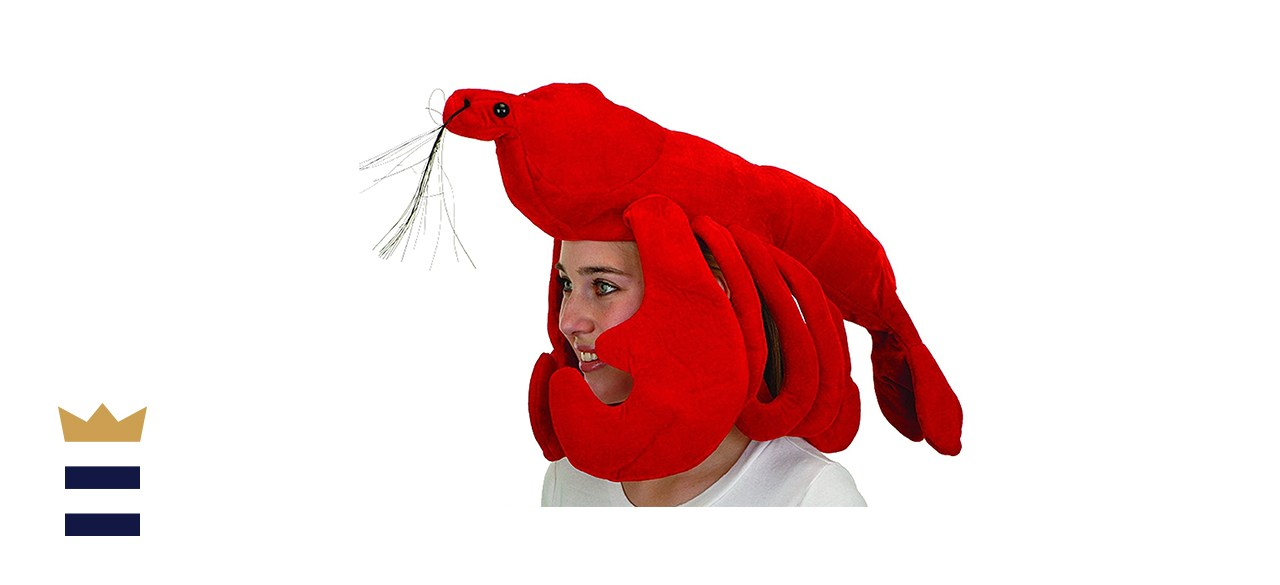 Jacobson Hat Company Large Red Plush Lobster Halloween Hat For Costume