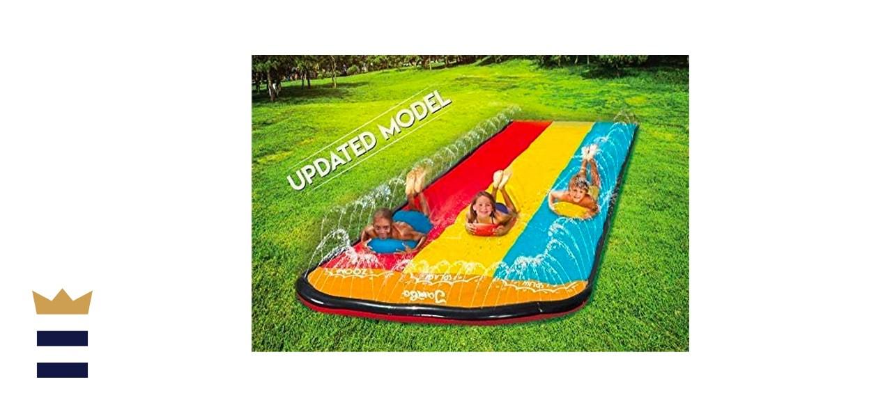 Jambo Triple Lane Slip, Splash and Slide for Backyards