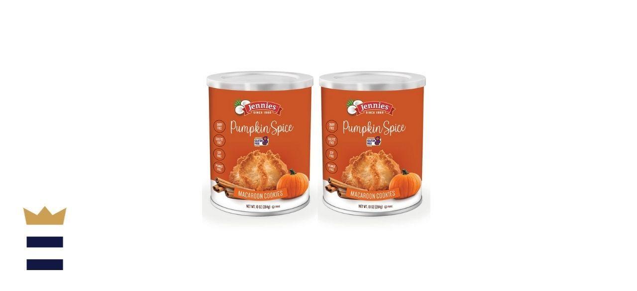 Jennies Famous Coconut Macaroons, Pumpkin Spice Flavor.
