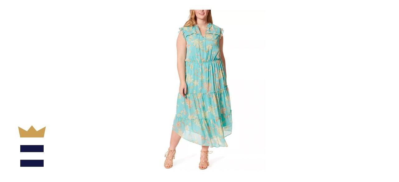 Jessica Simpson Plus-Size Katie Printed Ruffle Dress
